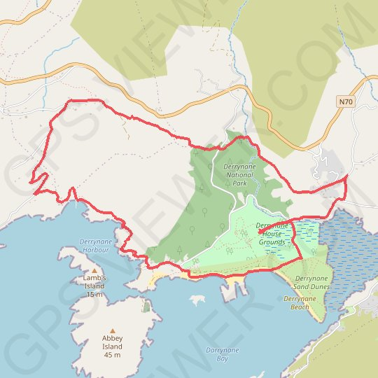 Derrynane National Park GPS track, route, trail
