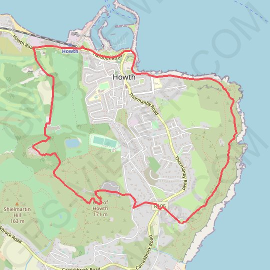 Howth - Dublin GPS track, route, trail