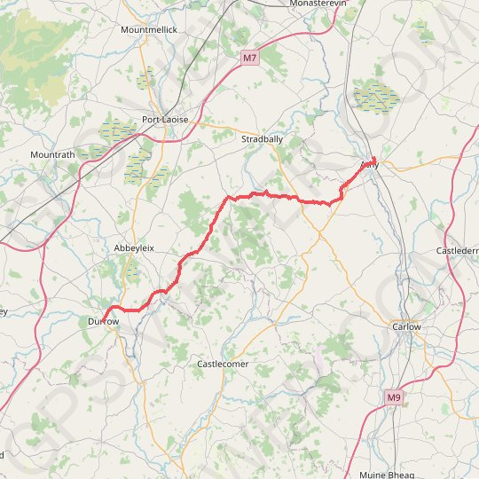 Athy - Durrow GPS track, route, trail