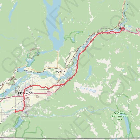 Chilliwack - Hope GPS track, route, trail