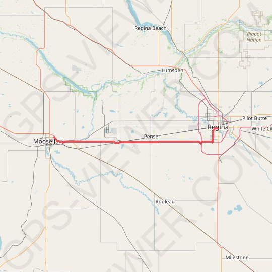 Moose Jaw - Regina GPS track, route, trail