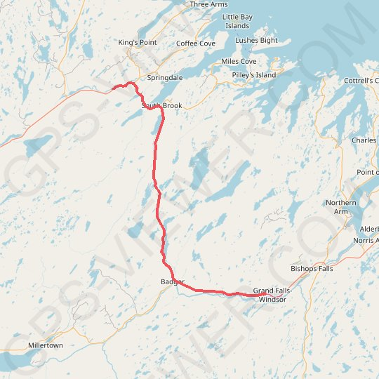 Sheppardville - Grand Falls-Windsor GPS track, route, trail